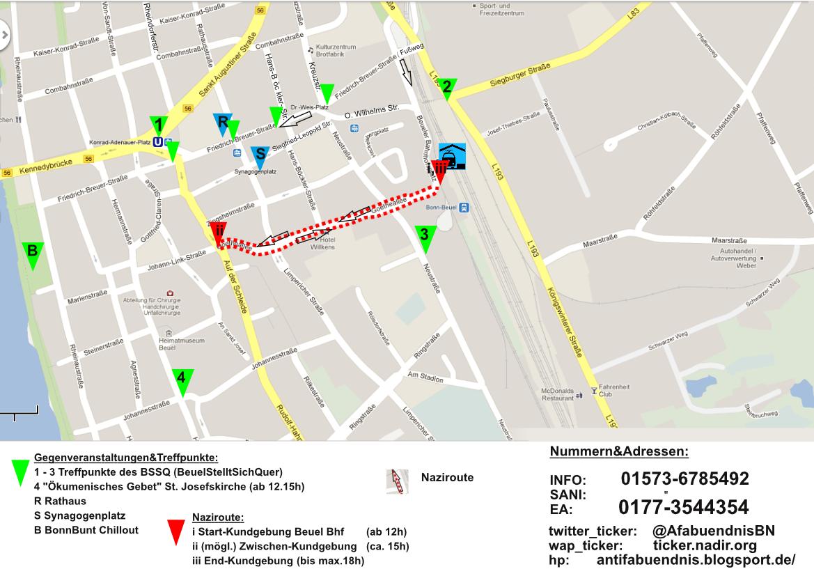 Bonn Karte.Antifabündnis Bonn